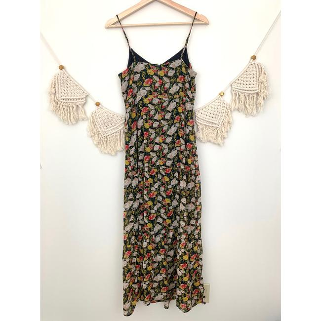 J.Crew Blue Red White Floral Long Casual Maxi Dress Size 2 (XS) J.Crew Blue Red White Floral Long Casual Maxi Dress Size 2 (XS) Image 5