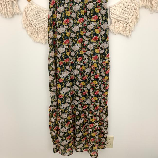 J.Crew Blue Red White Floral Long Casual Maxi Dress Size 2 (XS) J.Crew Blue Red White Floral Long Casual Maxi Dress Size 2 (XS) Image 7