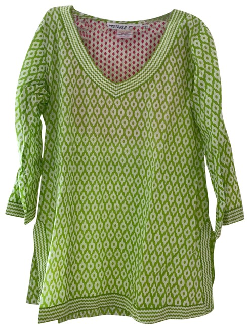 Item - Pink Green Tunic Cover-up/Sarong Size 6 (S)