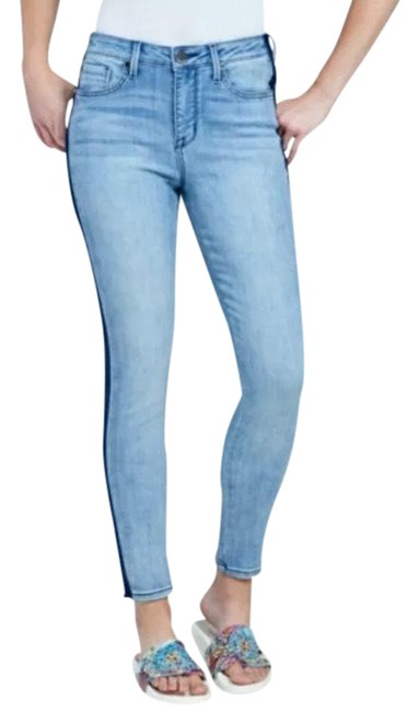 Item - Fancy Light Wash Mid Rise Limited Edition Skinny Jeans Size 8 (M, 29, 30)