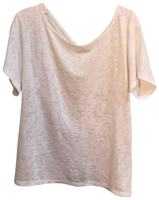 Item - White Cinched T-shirt Tank Top/Cami Size 6 (S)