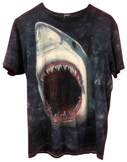 Item - Blue The Mountain Great White Tee Shirt Size 8 (M)