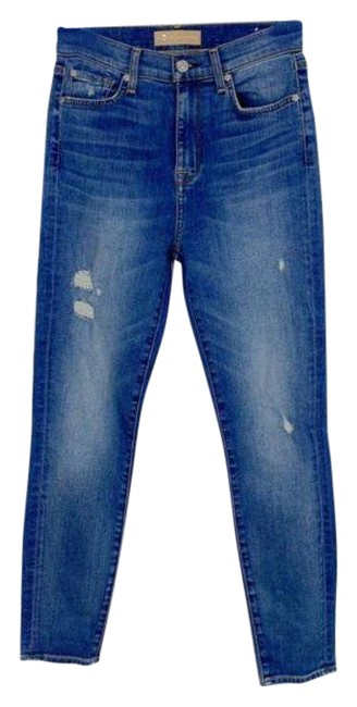 Item - Blue Light Wash Luxe Vintage High Waist Ankle Skinny Jeans Size 26 (2, XS)