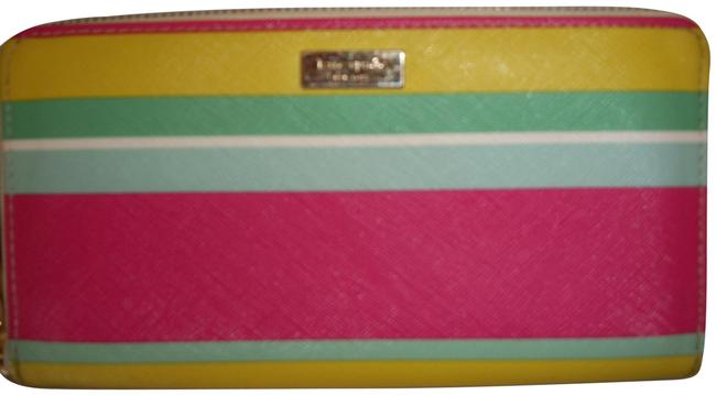 Item - Pink Yellow Green ♠️ Multicolored Wallet