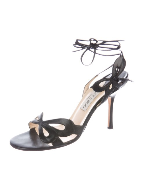Item - Black Butterfly Lace-up Sandals Size EU 38.5 (Approx. US 8.5) Regular (M, B)
