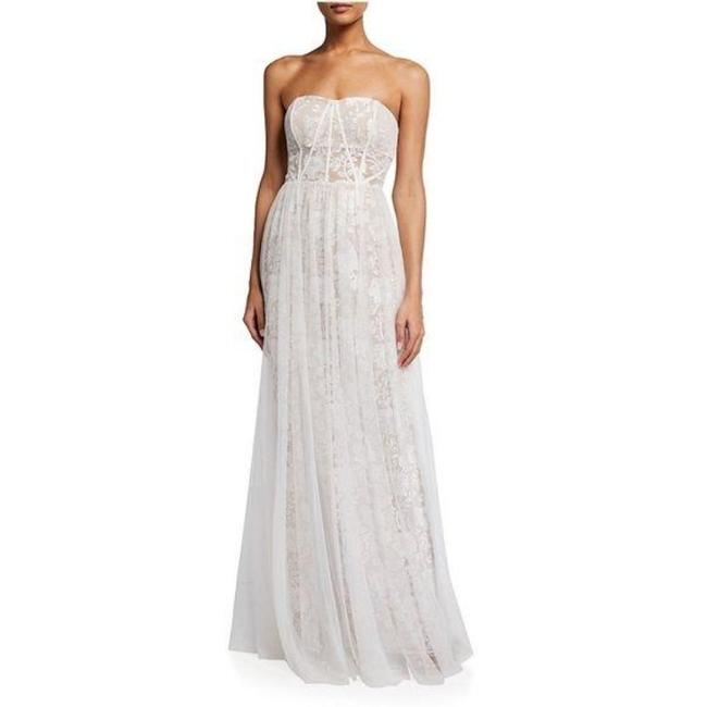 Item - White Embroidered Wedding Long Formal Dress Size 10 (M)