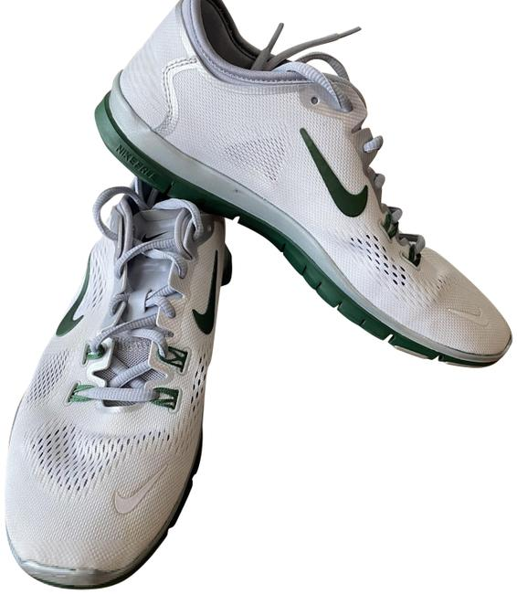 Item - White and Green Women's Free 5.0 Fr Fit 4 Team Running Sneakers Size US 9.5 Regular (M, B)