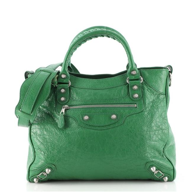 Item - Velo Giant Studs Leather Tote