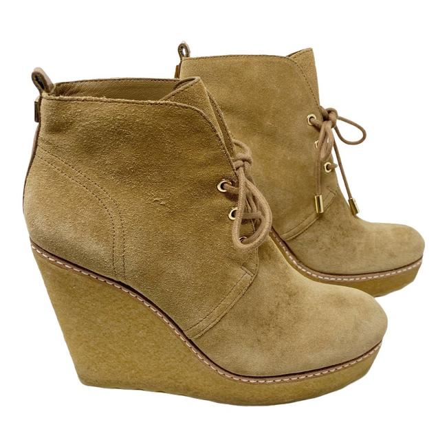 Item - Camel Vicki Suede Lace Up Wedge Ankle Boots/Booties Size US 7.5 Regular (M, B)
