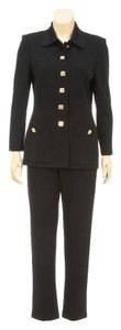 st. john St. John Black Button Down Jacket and Pant Suit ( Size 2)