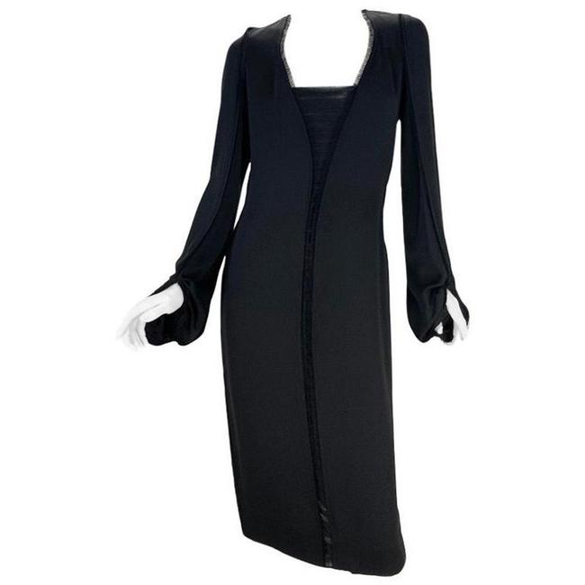 Item - Black 2001 Vintage Tom Ford For Yves Silk Mid-length Night Out Dress Size 6 (S)