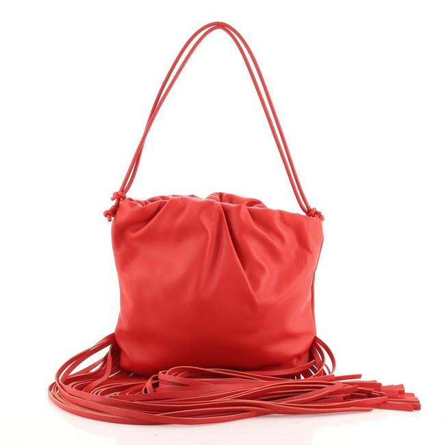 Item - The Fringe Pouch Red Leather Cross Body Bag