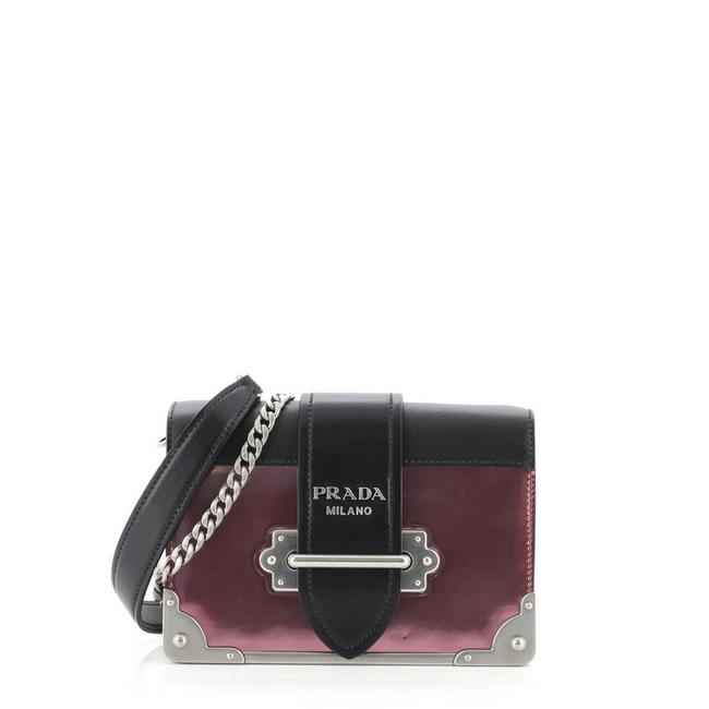 Item - Cahier Chain and Saffiano Small Metallic Pink Leather Cross Body Bag