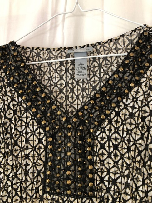 Catherines Black and Tan with Off White Blouse Size 16 (XL, Plus 0x) Catherines Black and Tan with Off White Blouse Size 16 (XL, Plus 0x) Image 3