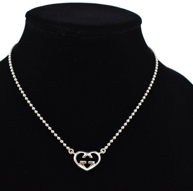 """Item - Sterling Silver """"Gg Heart"""" (Ny) Necklace"""