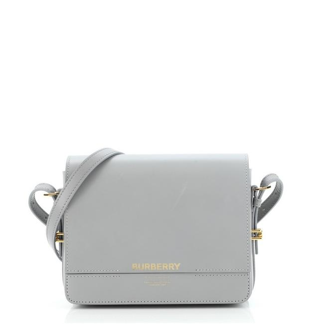 Item - Flap Small Gray Leather Cross Body Bag