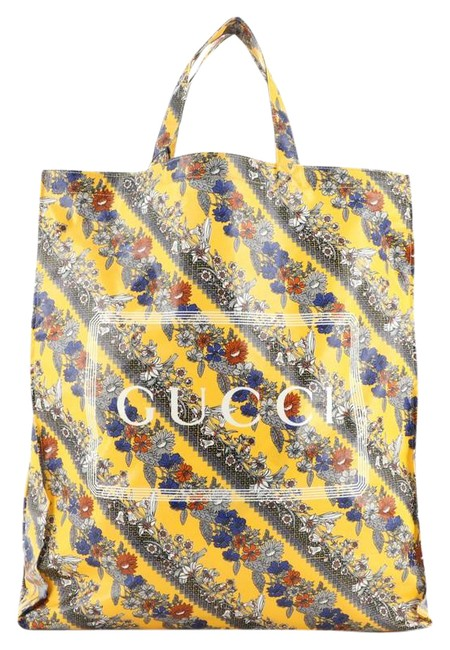 Item - Logo Shopper Printed Cotton Tall Multicolor Canvas Coated Tote