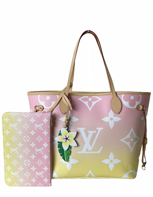 Item - Neverfull Bag Giant By The Pool Mm Pink Monogram Canvas Tote