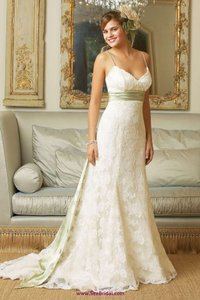 Watters & Watters Bridal Ivory Lace with Charmeuse Lining 9040b Vintage Wedding Dress Size 10 (M)