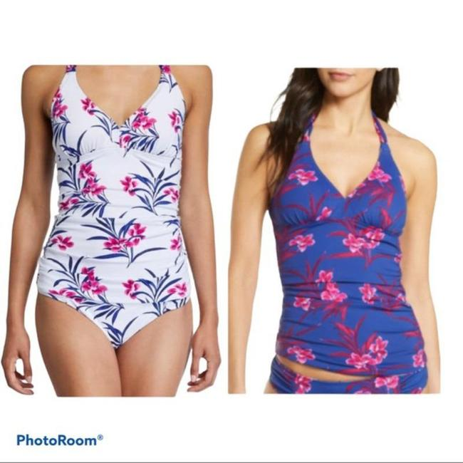 Item - White Blue and Pink Reversible & Top S Tankini Size 6 (S)