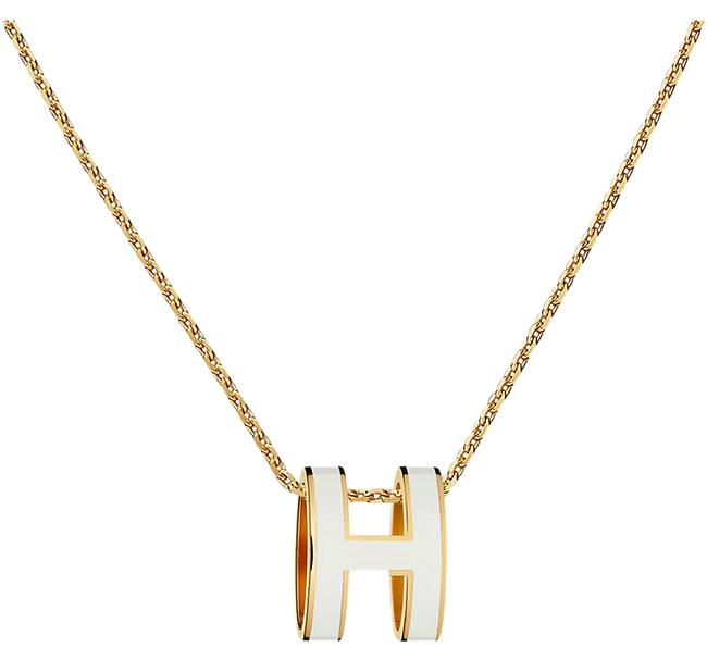 Item - White Chain Pendant Pop H Or3561 Necklace