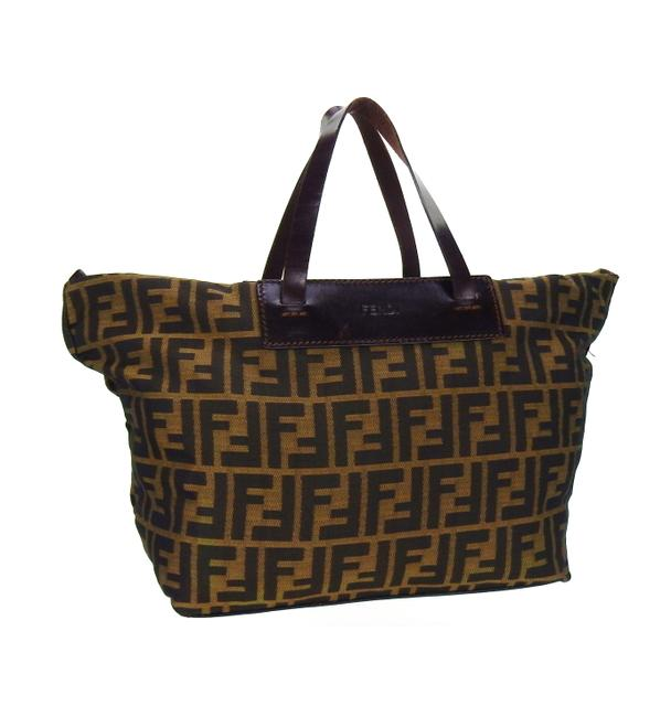 Item - Vintage Zucca Monogram Rollup Brown Canvas and Leather Tote