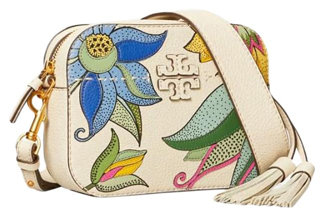 Item - Camera Mcgraw Pieced New Ivory Love Floral Leather Cross Body Bag