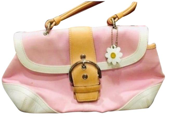 Item - Soho Daisy Hand Dust Pink Fabric and Leather Shoulder Bag