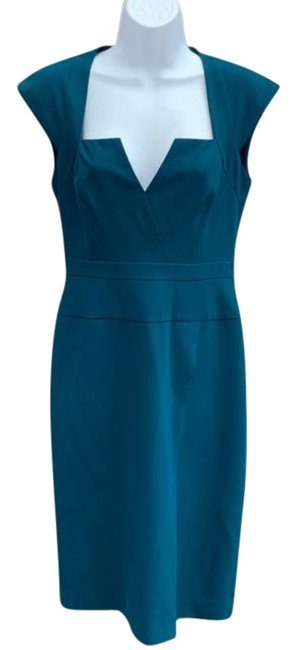Item - Teal Peacock Mid-length Cocktail Dress Size 4 (S)