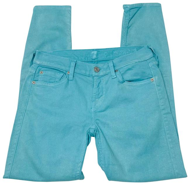 Item - Teal Light Wash The Cropped Skinny Jeans Size 2 (XS, 26)