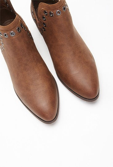 Other Grommeted Faux Chestnut Boots