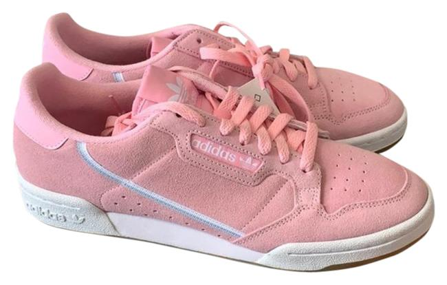 Item - Pink White Suede Womens Sneakers Size US 10.5 Regular (M, B)