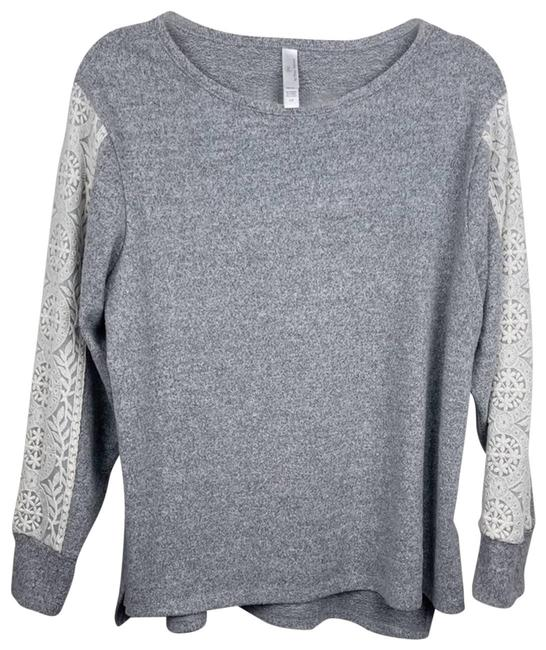 Item - Ultra Soft Lace Sleeve Gray Sweater