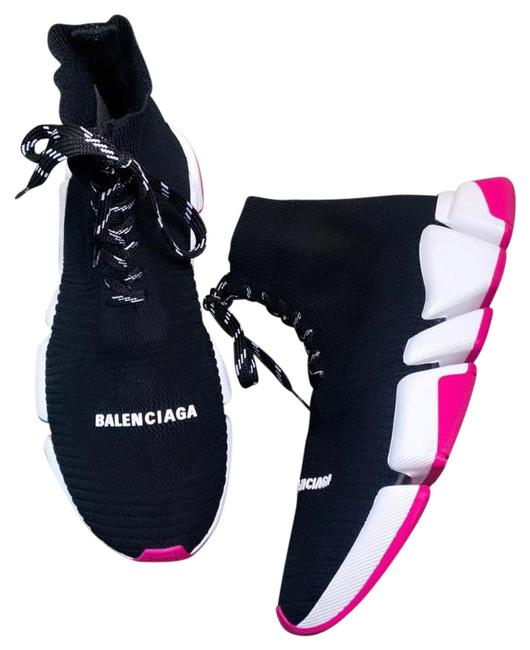 Item - Black White Neon Pink Speed 2.0 Lace-up Sneakers Size US 10 Regular (M, B)