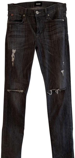 Item - Grey Distressed Mid Rise Skinny Jeans Size 26 (2, XS)