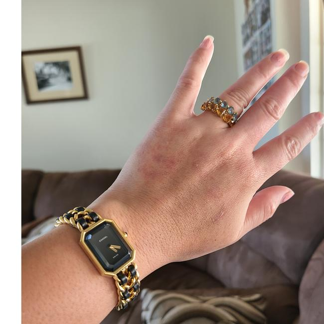 Chanel Black and Gold Swiss Watch Chanel Black and Gold Swiss Watch Image 12