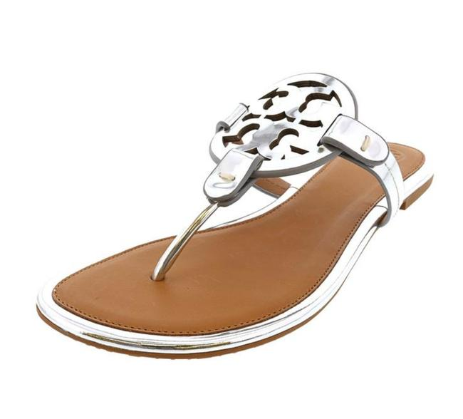 Item - Silver Box New-in-box Leather Mirror Sandals Size US 8.5 Regular (M, B)