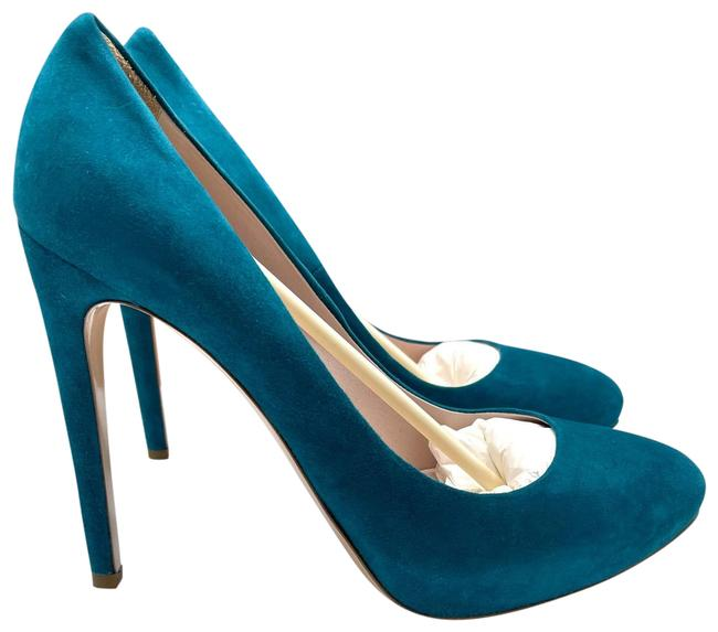 Item - Turquoise Camoscio Suede Made In Italy #5ip139 Pumps Size EU 41 (Approx. US 11) Regular (M, B)