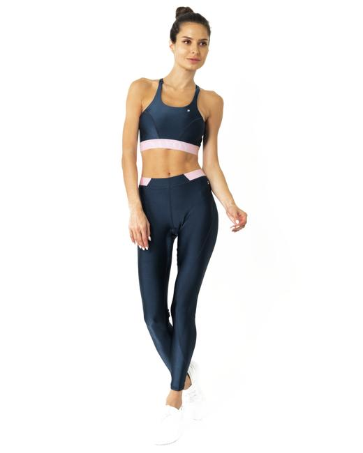 Item - Black Hudson Two Piece Workout Set - Sports Crop Bra and Mid Rise Leggings Activewear Gear Size 6 (S, 28)