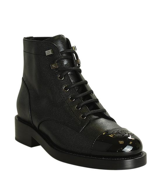 Item - Black G34954 Combat Leather Ankle (199598) Boots/Booties Size EU 38 (Approx. US 8) Regular (M, B)