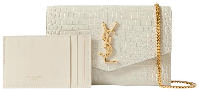 Item - Shoulder Uptown Croc-effect Patent-leather Off-white Leather Cross Body Bag