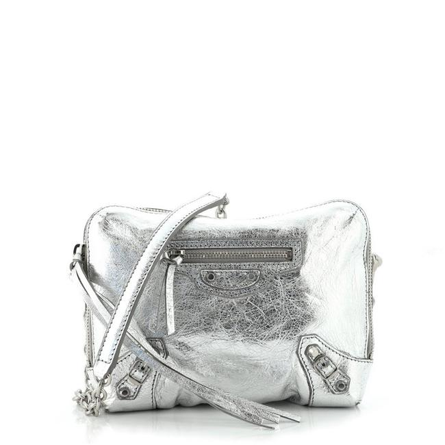 Item - Reporter XS Classic Studs Chain Silver Leather Cross Body Bag