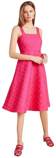 Item - Pink Maeve Tomasa Quilted Mid-length Casual Maxi Dress Size 0 (XS)