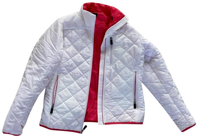 Item - White Cream Hot Pink XS Double Lined Quilted Jacket 2-4 Activewear Size 2 (XS)