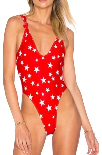 Item - Red Knotted One-piece Bathing Suit Size 4 (S)