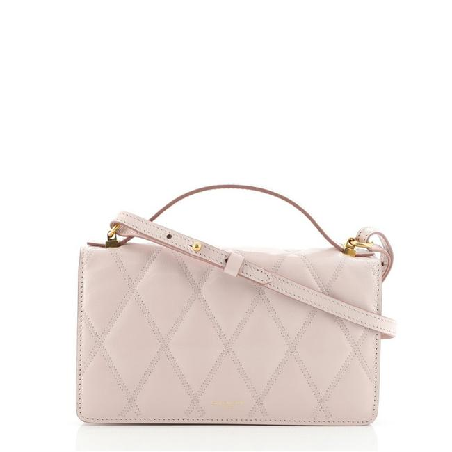 Item - Gv3 Wallet On Strap Quilted Pink Leather Cross Body Bag