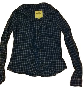 Abercrombie & Fitch Button Down Shirt blue and pink