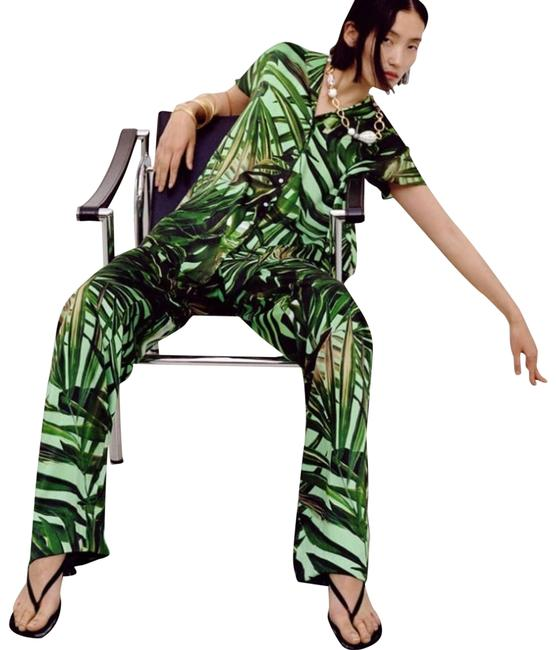 Item - Green Tropical Printed Activewear Bottoms Size 4 (S, 27)