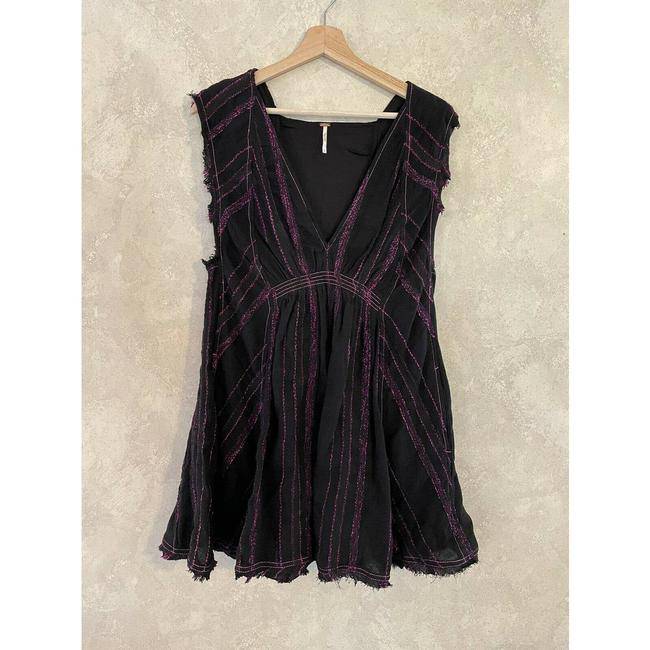Free People Black Cactus Flower Mini Pink Small Short Casual Dress Size 4 (S) Free People Black Cactus Flower Mini Pink Small Short Casual Dress Size 4 (S) Image 2