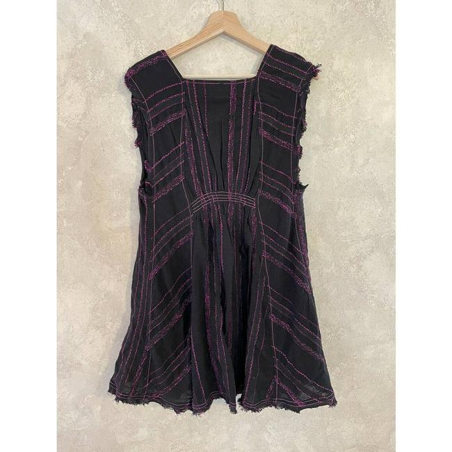 Free People Black Cactus Flower Mini Pink Small Short Casual Dress Size 4 (S) Free People Black Cactus Flower Mini Pink Small Short Casual Dress Size 4 (S) Image 3